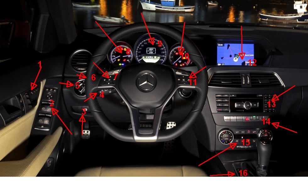 Auto cockpit mercedes  Mercedes C-Klasse und SLK: Testbericht zum Interface – basic