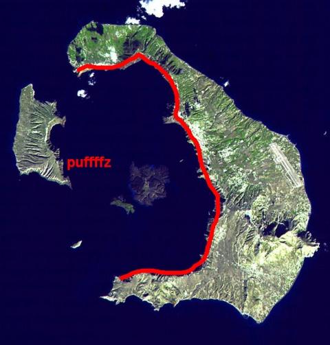 Santorini Satellitenbild