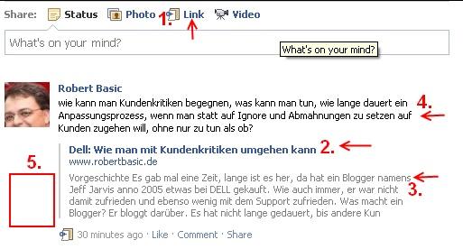 FB Linkposting - Beispiel