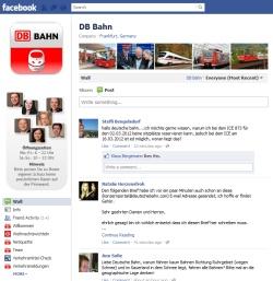 Facebook Deutsche Bahn Service