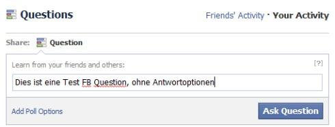 FB Frage erstellen