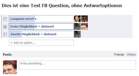 FB Questions: Die ersten Votings