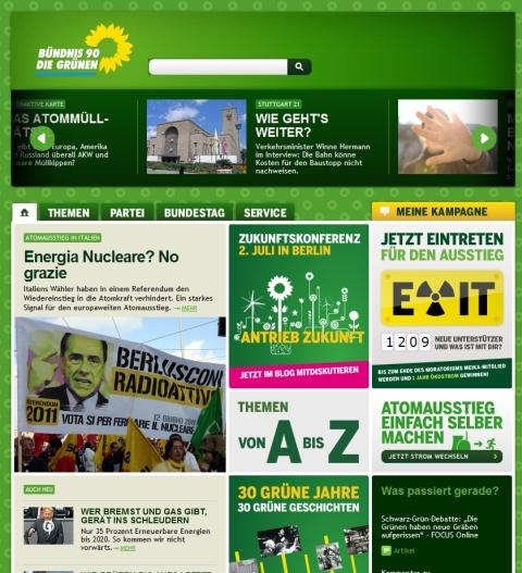 die Grünen Homepage